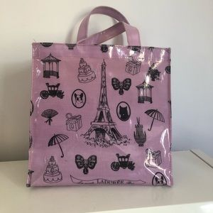 Ladurée tote bag & John Galliano macarons box